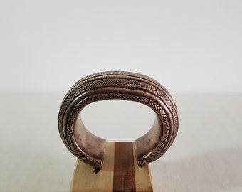 Dogon bracelet in bronze. Mali. 1960/1970. Tribal.