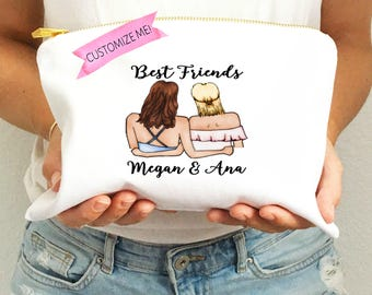 Best Friend Makeup Bag | Best Friend Gift | Personalized Makeup Bag | Custom Make Up Bag | Personalized Make Up | Cosmetic Bag | BFF