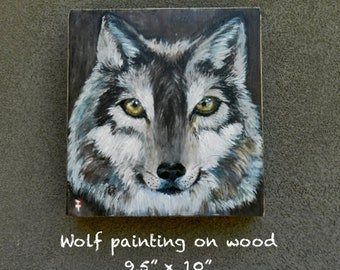 Wolf painting, Wolf art, Wolf artworks, Wolf gifts,  Wolf lover, Wolf decor, Wolf wall art, Wolf decor, Wolf Cabin, Wild animal wall art