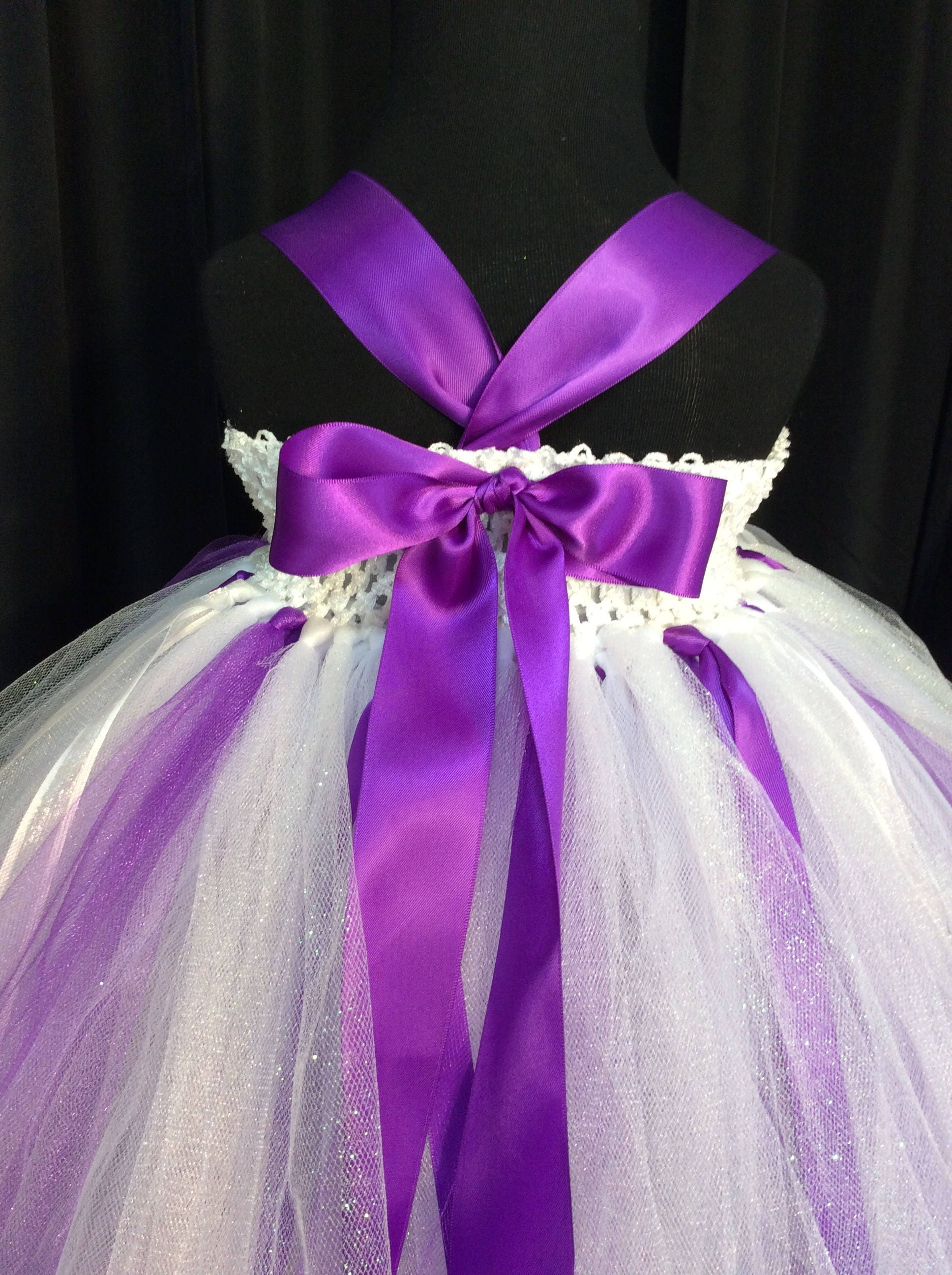 White and purple flower girl dress tulle flower girl dress tutu white flower girl dress gallery photo gallery photo gallery photo mightylinksfo