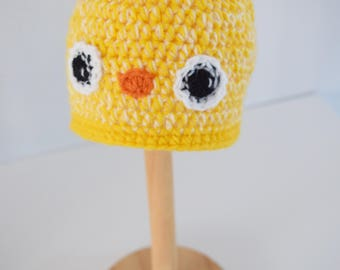 Crochet baby hat, little Chick hat, Newborn photo prop, newborn/baby hat, baby boy, baby girl, newborn prop, Bird hat
