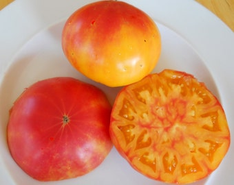Pineapple Tomato Seeds- Organic- Heirloom Variety- 30+ Seeds