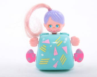 Sweet Secrets, 1980s, 1990s, Toys, Vintage, Wearable, Square, Pony Tail, Blue, Purple ~ The Pink Room ~ 161110C SS004