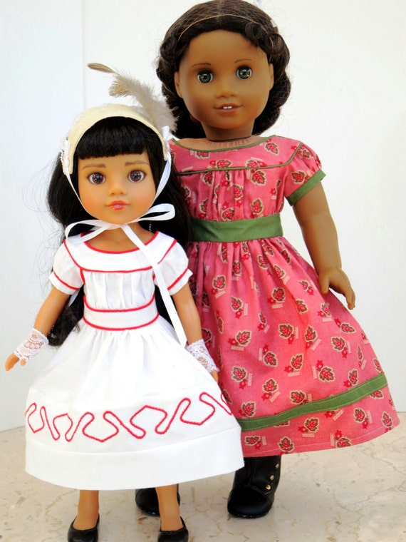 """Items similar to 1860s summer dress sewing pattern set for 14"""" and 18"""" Dolls on Etsy"""