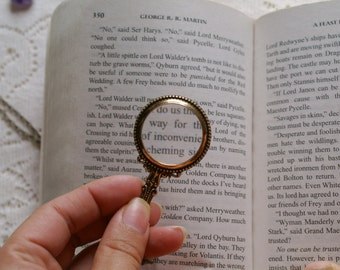Vintage Look Magnifying Glass Necklace