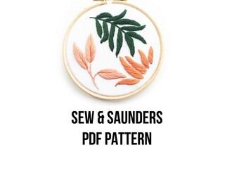 Botanical Pink & Orange PDF Pattern