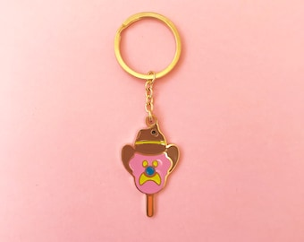 Iconic Australian Bubble O Bill Keyring Plated with 18K Gold and Greeting Card Option