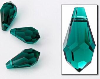 Swarovski 6000 13mm x 6.5mm Emerald Teardrop