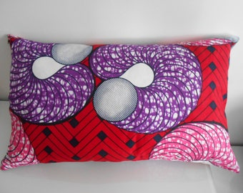 Square and rectangle pillow cover made of wax (African fabric)