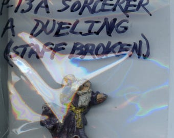 Broadsword P-13A Sorcerer A Dueling with Staff Broken Painted Miniature