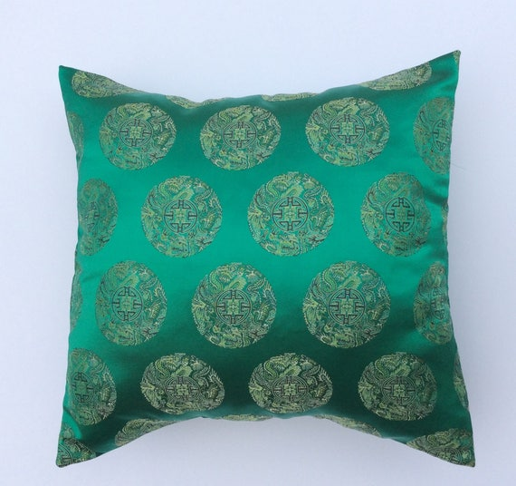 Asian Pillow Cover Green Asian Pillow Chinoiserie Decor Inspiration Asian Pillow Covers