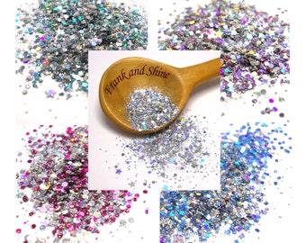 Twinkles Holographic Solvent Resistant Glitter x5 Sample Pack 15g