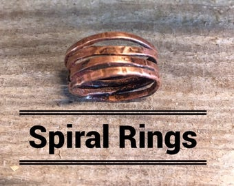 Spiral Copper Rings