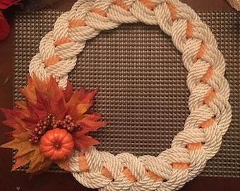 Nautical rope wreaths