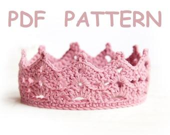 Crochet princess crown pattern - tiara - Easy level crochet - PROMO price
