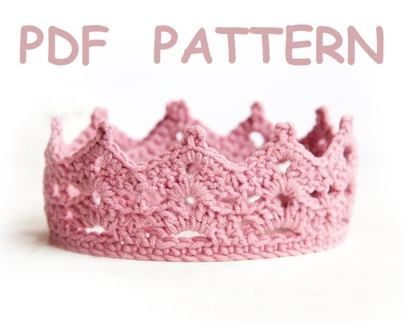 Crochet Princess Crown Pattern Tiara Easy Level Crochet