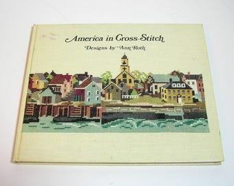 America in Cross-Stitch Designs by Ann Roth