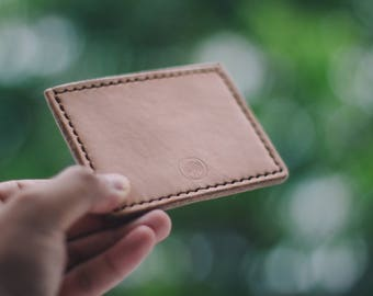 Minimal Leather Card Wallet // Leather Card Wallet // Leather Wallet