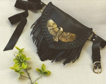 Move West Eagle Fringe Belt Bag