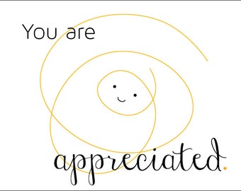 You Are Appreciated Cards (Set of 12)