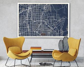 Plano city map Etsy