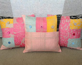 Cushions/Decorative Pillows made out of gorgeous fabric swatches