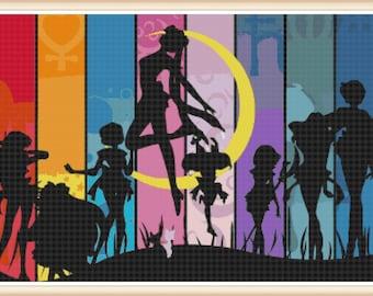 Sailor Moon Cross Stitch Pattern - Sailor Moon - Anime - PDF Download - Instant Access