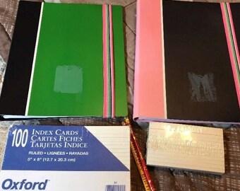 Homeschool Paper Pencil Index Cards Supply Destash