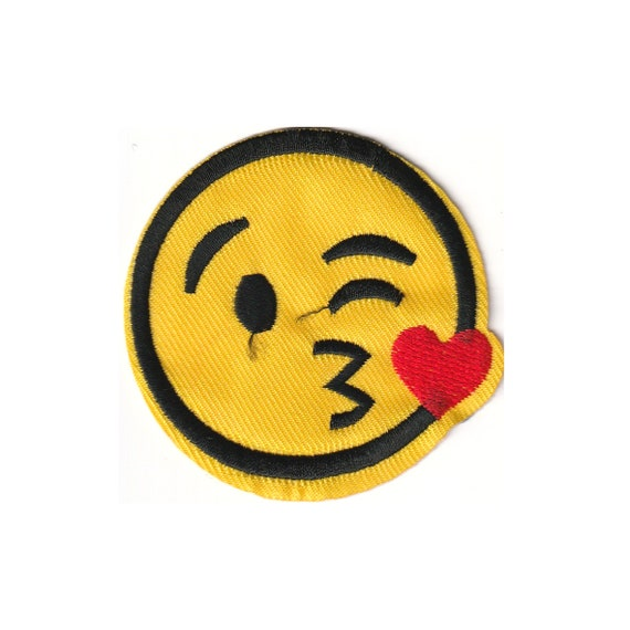 """Patch fusible trend pattern """"smiley"""""""