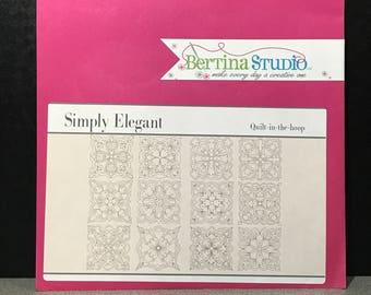 Bertina Studio Simply Elegant Quilt-in-the-Hoop Design CD