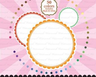 Circle clip art clipart, Scallop clip art clipart, frame clip art clipart, polka dot baby : e0162 v301 50