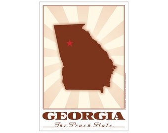 Georgia State Poster