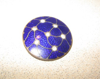 Button Basse Taille Blue Rhinestone Antique Vintage Sewing Clothing Buttons #PR92