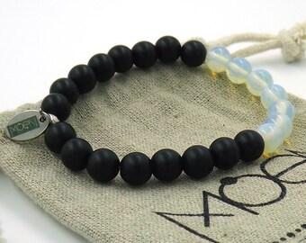 MOEN Ilum/Black stone and Moonstone bracelet