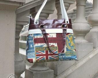 Shopper, Great Britain shoulder bag, imitation leather