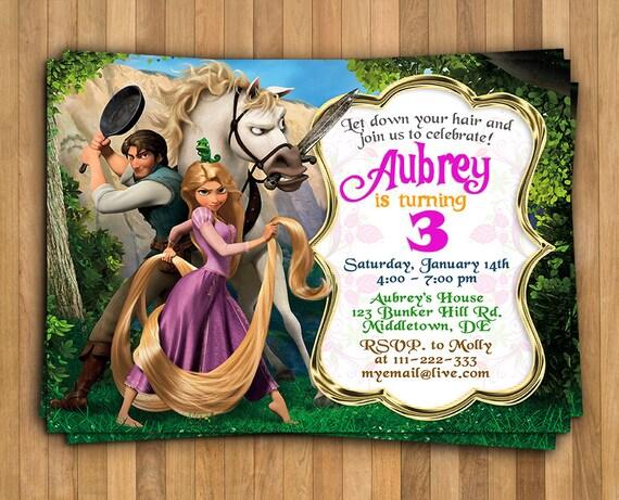 Rapunzel Invitation Tangled Invitation Tangled Birthday