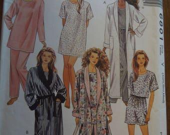 McCalls 6801, size XS-M, robe, tunic, top, pants and shorts, UNCUT sewing pattern