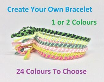 Handmade Macrame Skinny Bracelets Create Your Own 1 Or 2 Colours