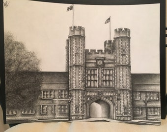 Personalized Drawing - College Graduation Gift