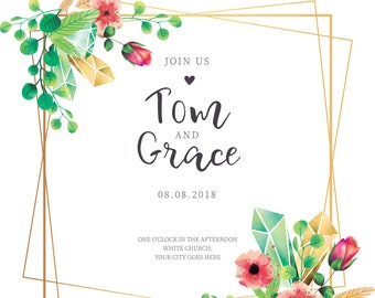 Bright Botannical Wedding Invitation