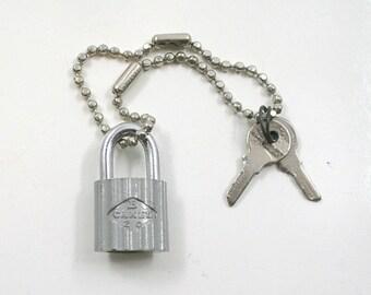 Miniature Camel Padlock with Keys