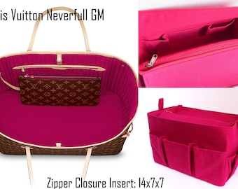 Purse organizer for Louis Vuitton Neverfull GM with Zipper closure- Bag organiser