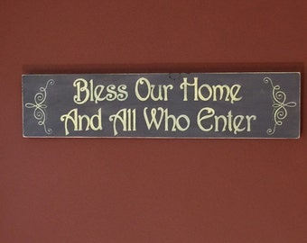 Bless our home sign - Bless our house - House warming gift - Wood sign - Home decor - Rustic - Sign - Welcome sign - Wooden sign - Home sign