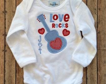 Love Rocks Applique Shirt