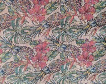 Natural Cork Fabric - Pineapple