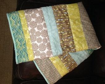 Cozy Spa Inspired Quilt - handmade