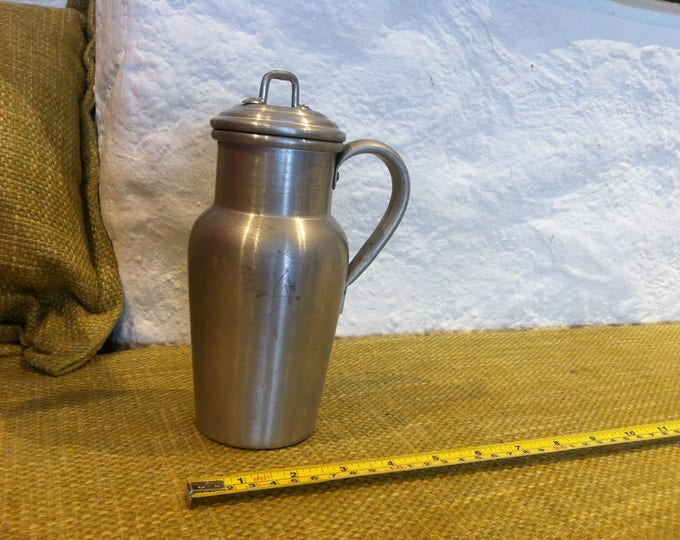 vintage milk churn decoration object farmer deco, garden deco, kitchen decoration object