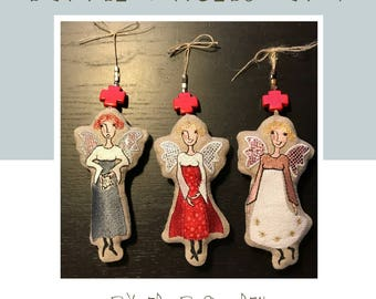 ITH little SOFT ANGELS, 3 different cute and easily stitched machine embroidery designs for versatile use, for the 5 x 7 hoop
