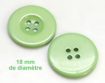 "1 round ""Almond"" plain resin 18 mm button not expensive €0.25"