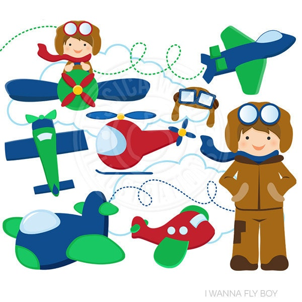i wanna fly cute digital clip art commercial use ok rh etsy com clipart plane clipart lines